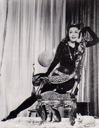 Julie as Catwoman on the set of Batman