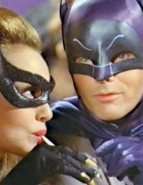 Catwoman and Batman - Straw